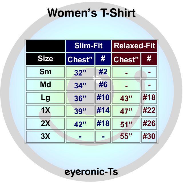 Women's T-shirt size chart