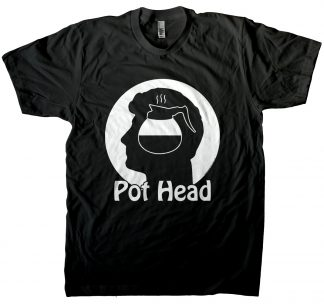 Men's coffee pot head t-shirt