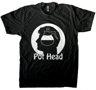 Men's coffee pot head t-shirt