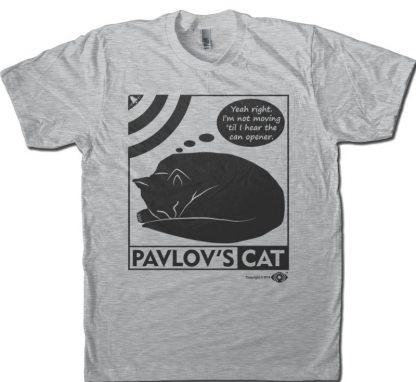 Pavlov's cat gray men's T-shirt