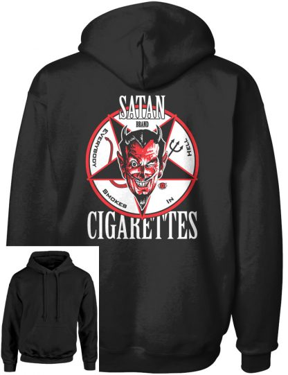 Men's Satan Cigarettes Pull-Over Hoodie