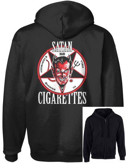 Men's Satan Cigarettes Zip-Up Hoodie